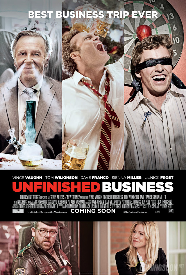 unfinished business exclusive poster vince vaughn