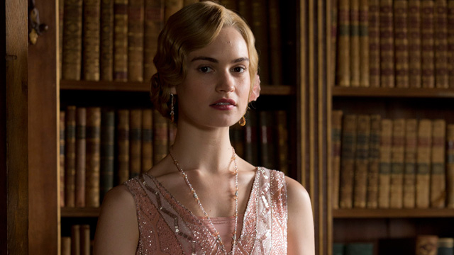 Lily James, known for portraying Lady Rose MacClare on Downton Abbey, takes lead role in upcoming Cinderella film.