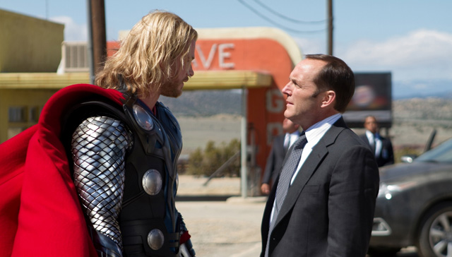 Closing scenes in Thor prelude the events that occur in The Avengers.