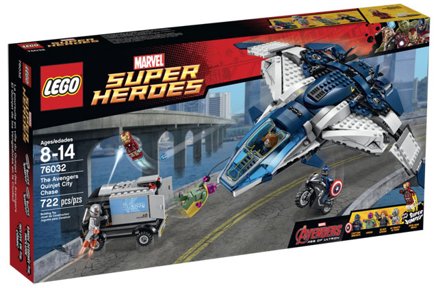 Bring the action of the Avengers home with a buildable Lego set. Avengers: Age of Ultron is out in theatres May 1st.
