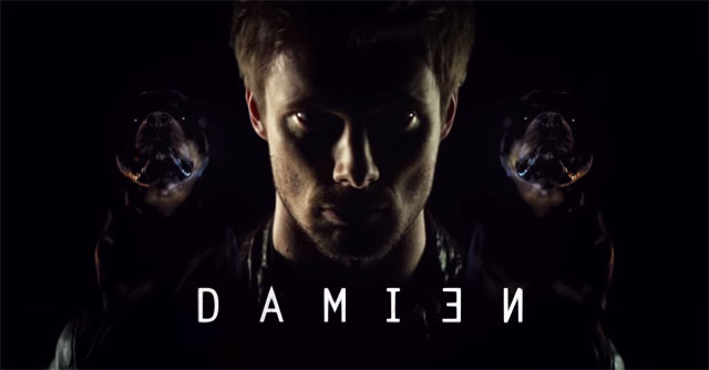 A&E has just released the Comic-Con International teaser poster for their upcoming original scripted drama series, Damien.