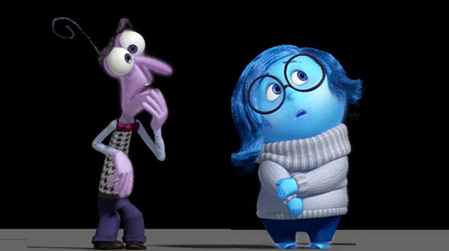 Meet Fear and Sadness, two of the stars of Disney Pixar's new animated film, Inside Out!