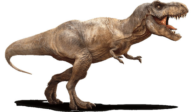 The Tyranosaurus Rex returns among the Jurassic World dinosaurs featured in this summer's big screen release.