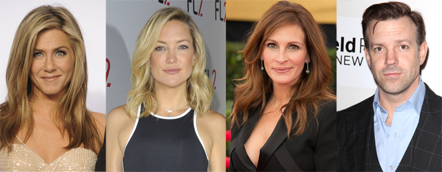 Jennifer Aniston, Kate Hudson, Julia Roberts and Jason Sudeikis will star in Mother's Day.