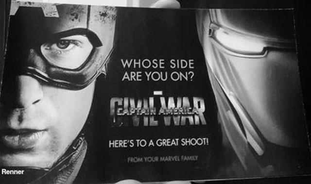 "A Civil War promo image asks, ""Whose side are you on?"""