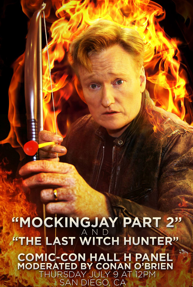 Conan O'Brien will host both The Last Witch Hunter and Hunger Games: Mockingjay Comic-Con panels.