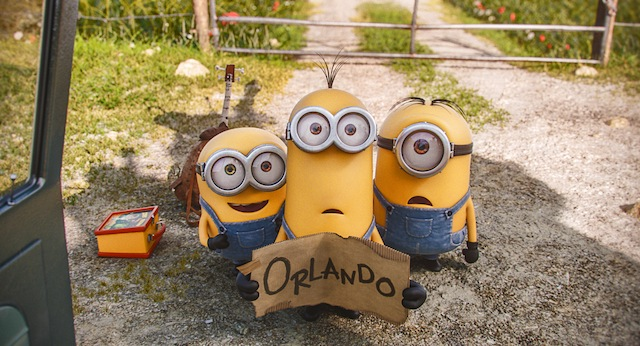 A new Minions clip has the minions hitching a ride to Orlando.
