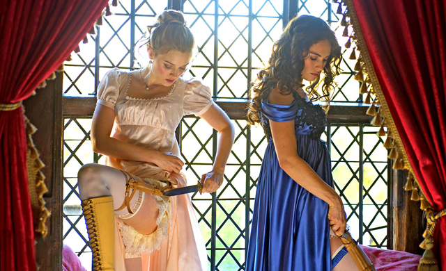 A first look at new Pride and Prejudice and Zombies photos is here.