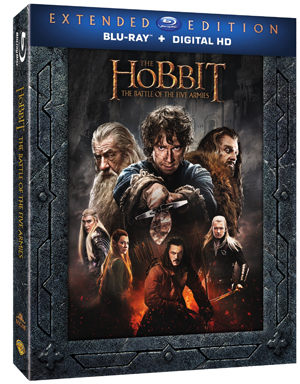 The Hobbit: The Battle of the Five Armies Extended Edition Comes to Blu-ray and Digital HD.