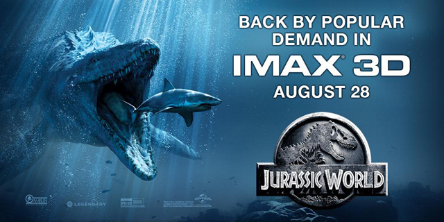 Jurassic World Returning to IMAX for One Week.