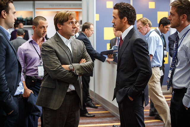 The Big Short Trailer Featuring Bale, Carell, Gosling and Pitt.