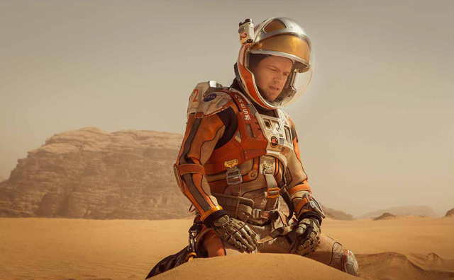 The Martian returned to the top spot at the box office despite the release of four new movies, all of which bombed.