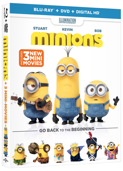 Minions Digital HD and Blu-ray Release Dates Revealed.