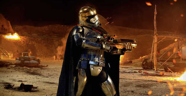 Phasma Takes Aim in a New Star Wars: The Force Awakens Still