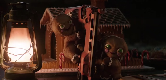 Gingerbread Men attack in a new Krampus clip!