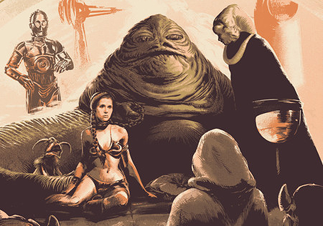 Bottleneck Gallery's Return of the Jedi Print Completes the Triptych.