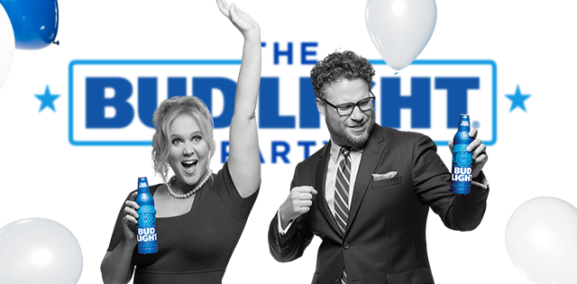 2016 bud light super bowl commercial debuts seth rogen and amy schumer star in bud light super bowl commercial aloadofball Choice Image
