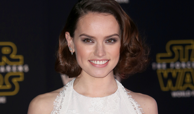 Daisy Ridley demonstrates her Jedi training.