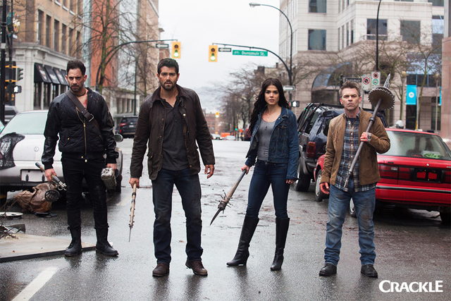 Patrick Sabongui, Jesse Metcalfe, Marie Avgeropoulos and Ian Tracey star in Crackle's DEAD RISING ENDGAME