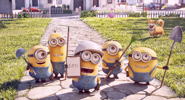 The Mower Minions short film stars the iconic Minions, who first appeared in the blockbuster Despicable Me series and who most recently starred in 2015's massive hit Minions