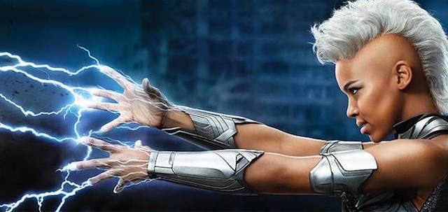 Alexandra Shipp plays Storm in the X-Men: Apocalypse cast.