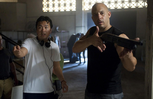 Justin-Lin-directing-Fast-Five