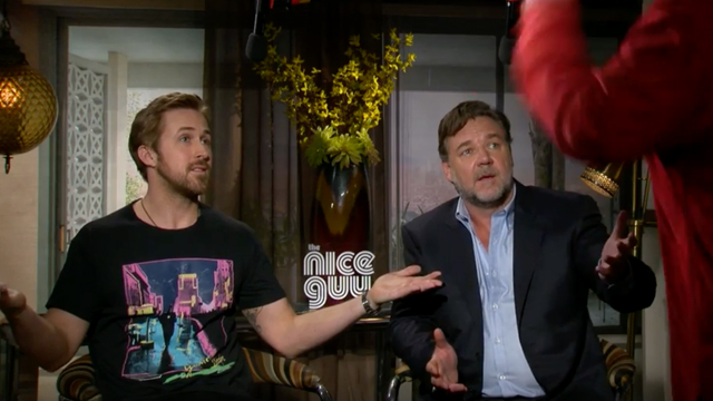 Joel Silver yells at Ryan Gosling and Russell Crowe about The Nice Guys.
