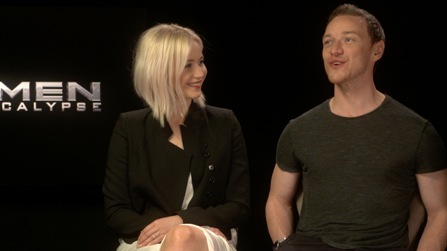 Jennifer Lawrence and James McAvoy talk X-Men: Apocalypse.