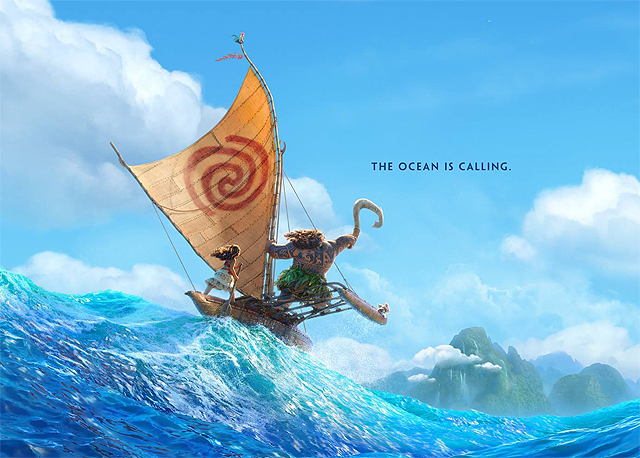 Catch a Gnarly Wave with Disney's Moana Poster