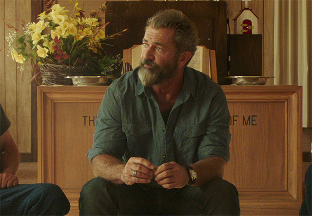 Mel Gibson Goes to AA in New Blood Father Clip