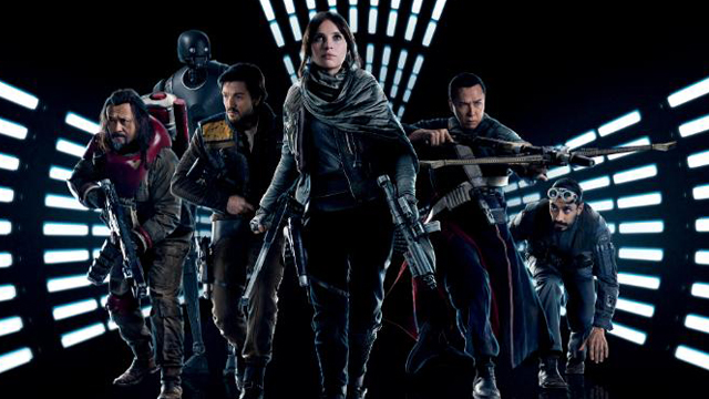 It's six against the galaxy on one of two new international Rogue One posters.