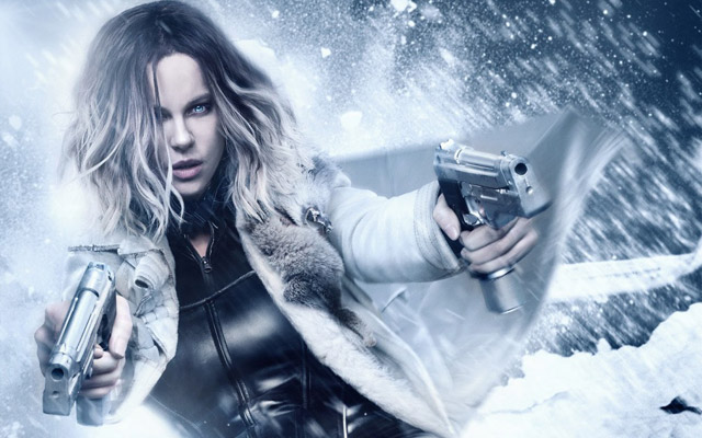 Kate Beckinsale in the New Underworld: Blood Wars Poster
