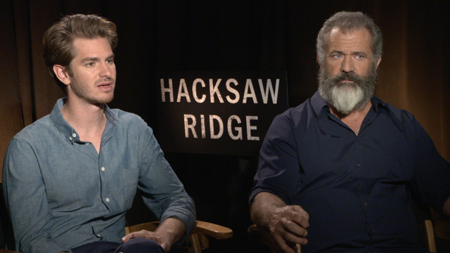 Sit down with Mel Gibson and his Hacksaw Ridge cast!