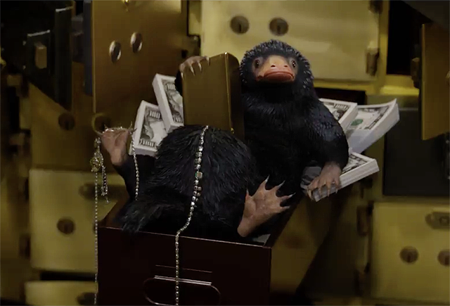 Fantastic Beasts Want That Cash Money in Second Clip