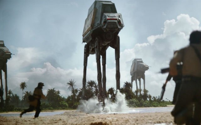 Among the new Rogue One ships is a new kind of AT-ACT.