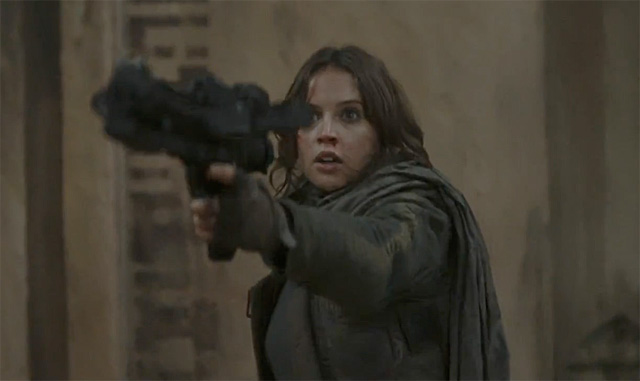 Felicity Jones Debuts First Rogue One Clip on Tonight Show