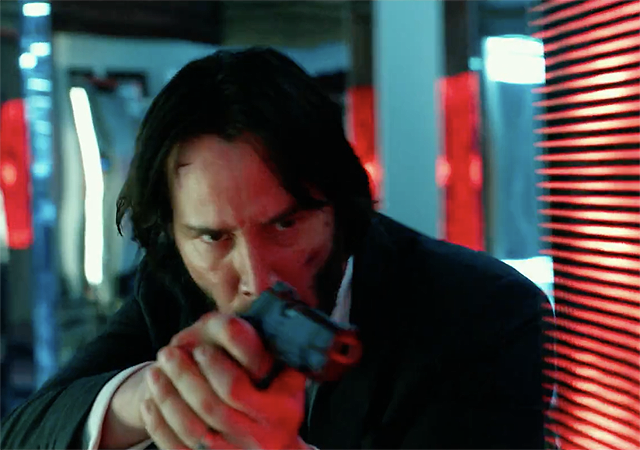 Keanu Reeves Targets New John Wick Chapter 2 TV Spot