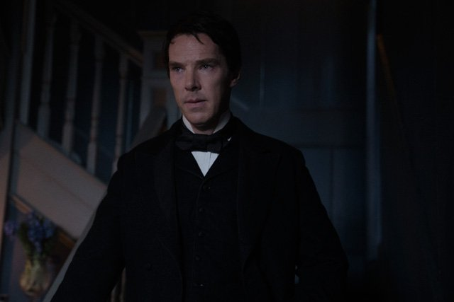 Cumberbatch as Thomas Edison in The Current War