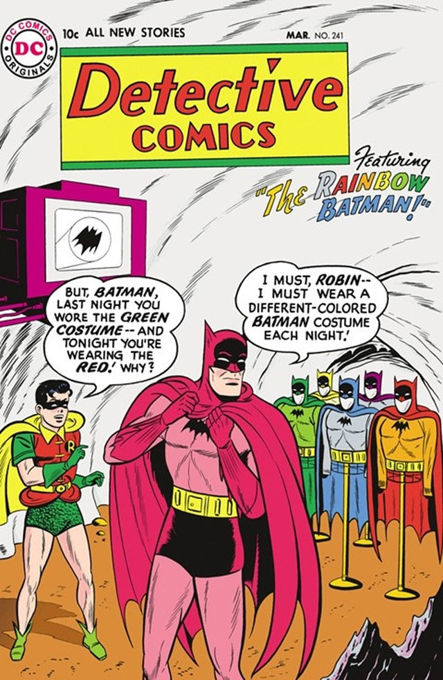 The Rainbow Batman is another of the silliest Batman stories.