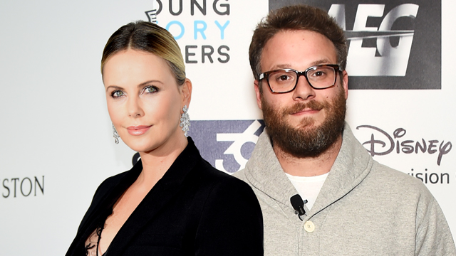 seth rogen and charlize theron
