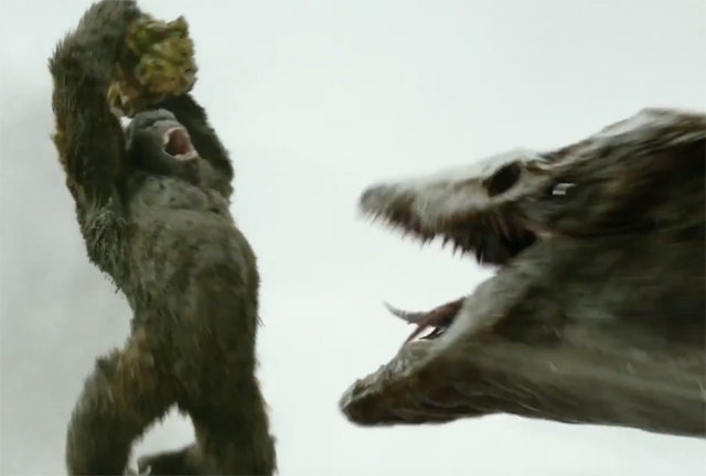 Skull Crawler vs Kong in New Skull Island Fight Clip