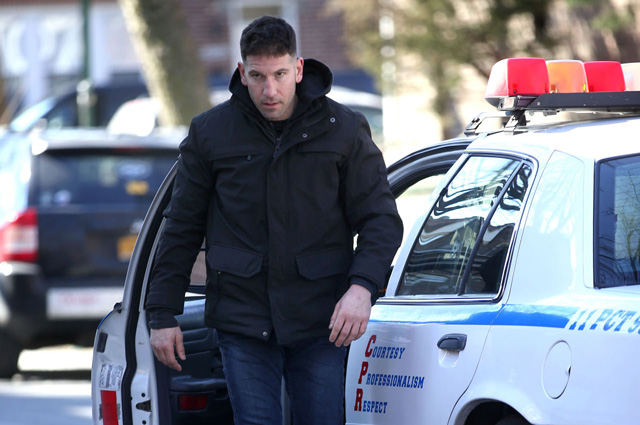 Frank Castle in Action on The Punisher Set