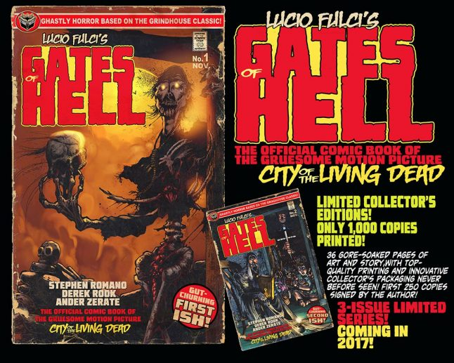 Extreme comics adaptation of Lucio Fulci's gore classic The Gates of Hell is a visionary work