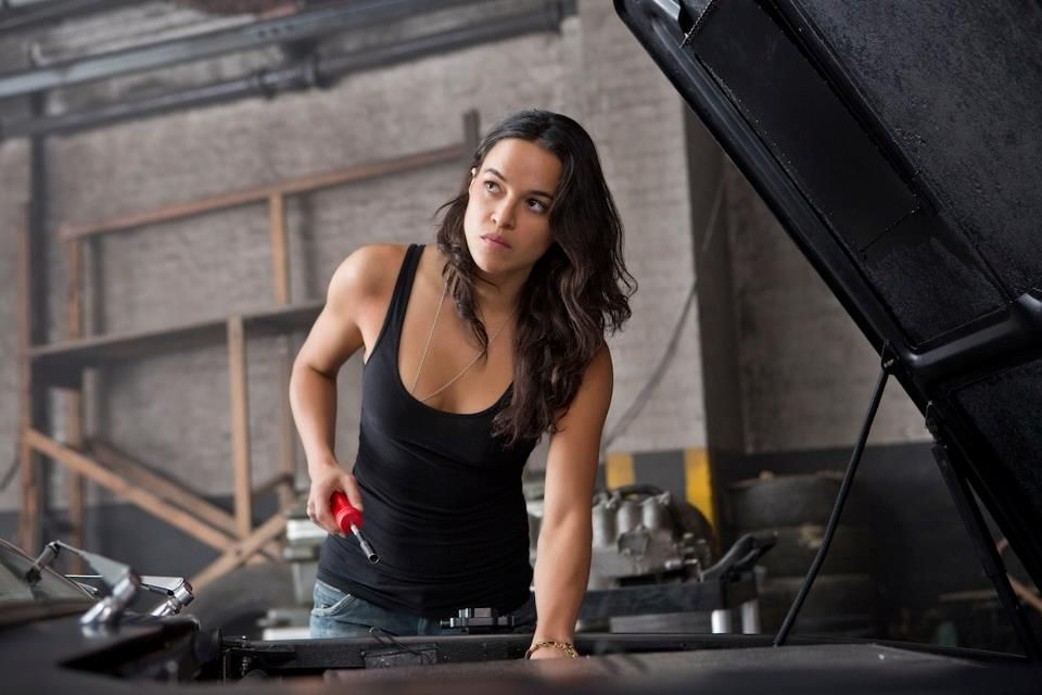 Michelle Rodriguez plays Letty, one of the central Fate of the Furious characters.