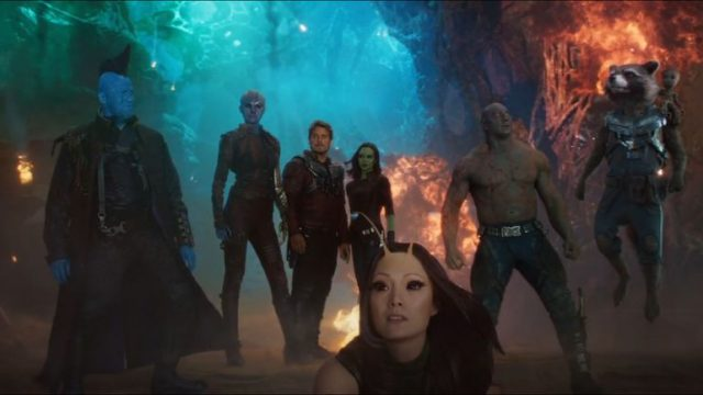 Pratt, Saldana, Bautista, Rooker and Russell reunited on Jimmy Kimmel Live! for Guardians of the Galaxy Vol. 2