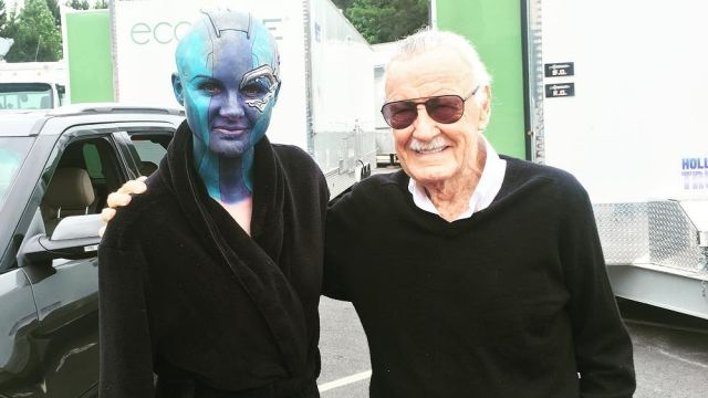 Stan Lee Visits the Set of Avengers: Infinity War