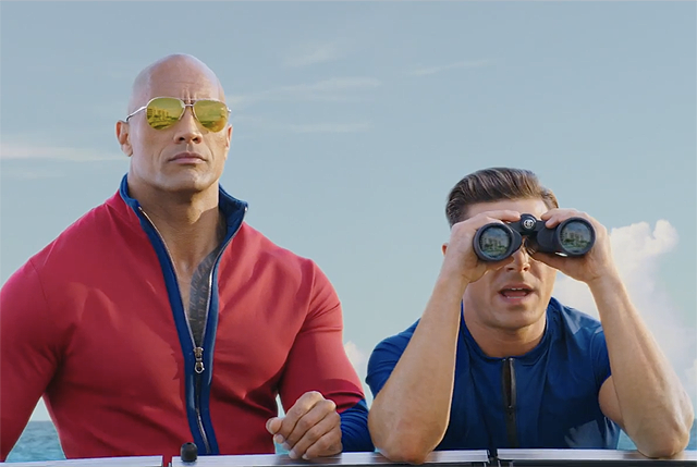 New red band Baywatch trailer swims in