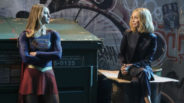 Supergirl and Cat Grant Are Together Again in Resist Photos