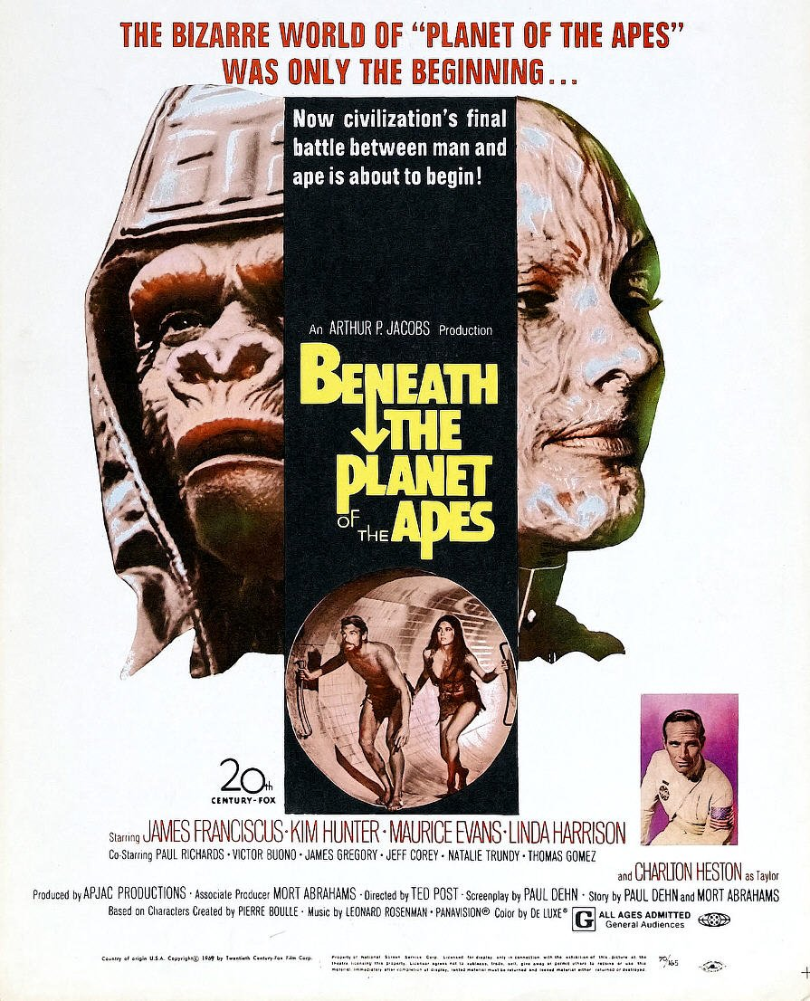 The Planet of the Apes franchise continues with Beneath the Planet of the Apes. What's your favorite Planet of the Apes franchise entry?