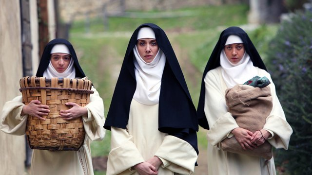 Sit down with Jeff Baena and his Little Hours cast. Jeff Baena wrote and directed the film.